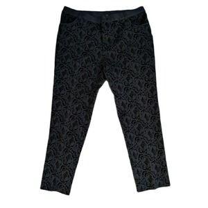 Soft Surroundings Velvet Burnout Pants